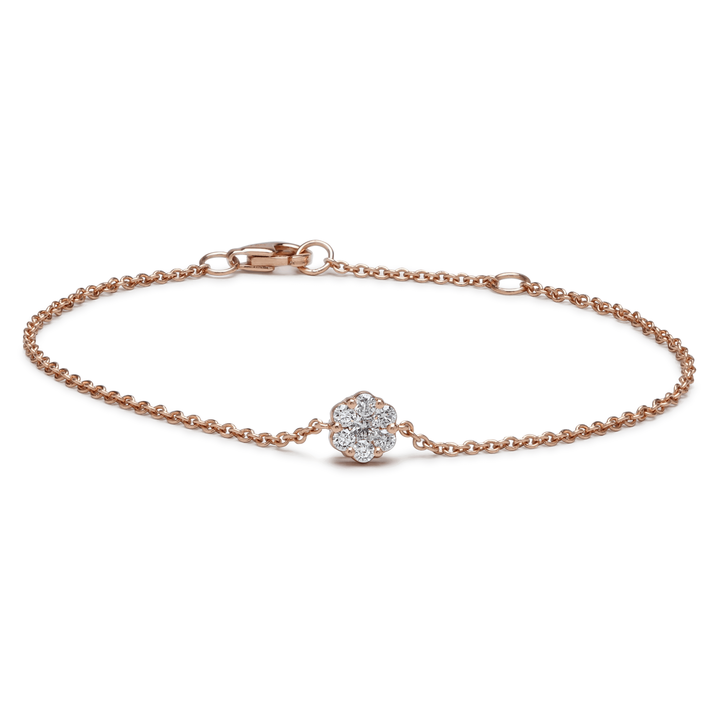 25691 - Rose Gold Diamond Bracelet