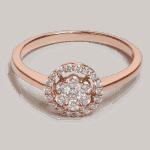 25695 - Rose Gold Diamond Ring