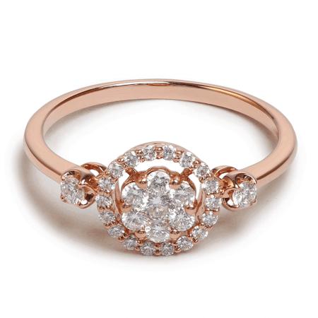 25699 - 18ct Rose Gold Diamond Ring