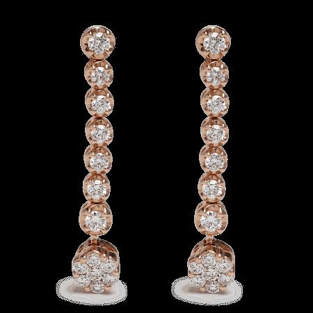 25701 - 18ct Rose Gold Diamond Earrings