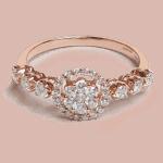 25702 - 18ct Rose Gold Diamond Ring