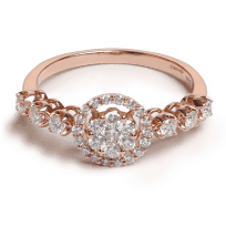 25702 - 18ct Rose Gold Diamond Ring