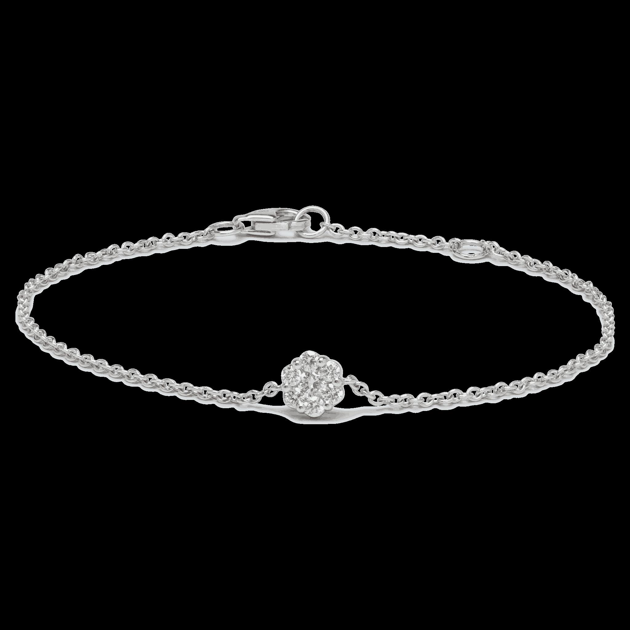 25709 - 18ct White Gold Diamond Bracelet