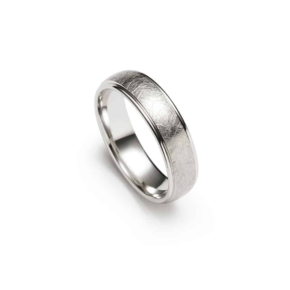 273410-10575 - Textured Christian Bauer Wedding Band Ring