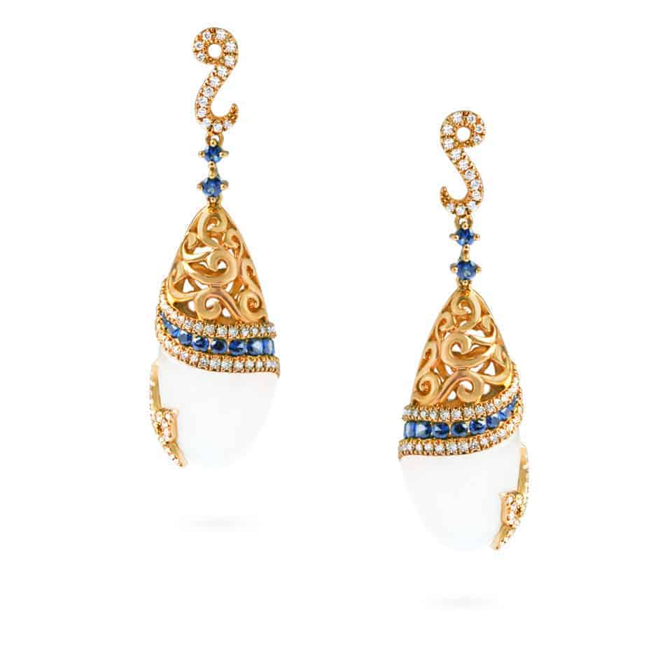 20900 - 18ct Gold Cocktail Earrings