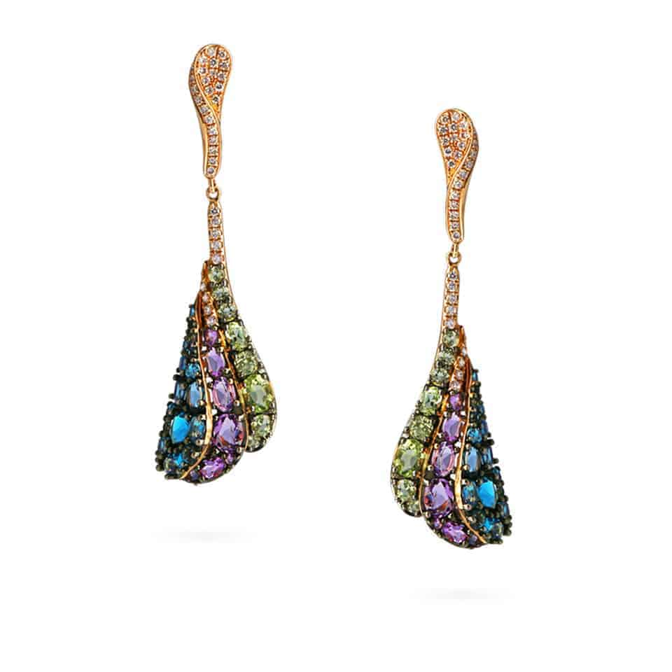 20904 - 18ct Gold Cocktail Earrings