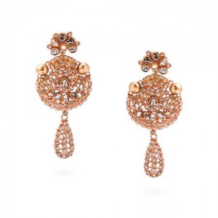 22527 - Anusha 22ct Uncut Polki Diamond Earrings