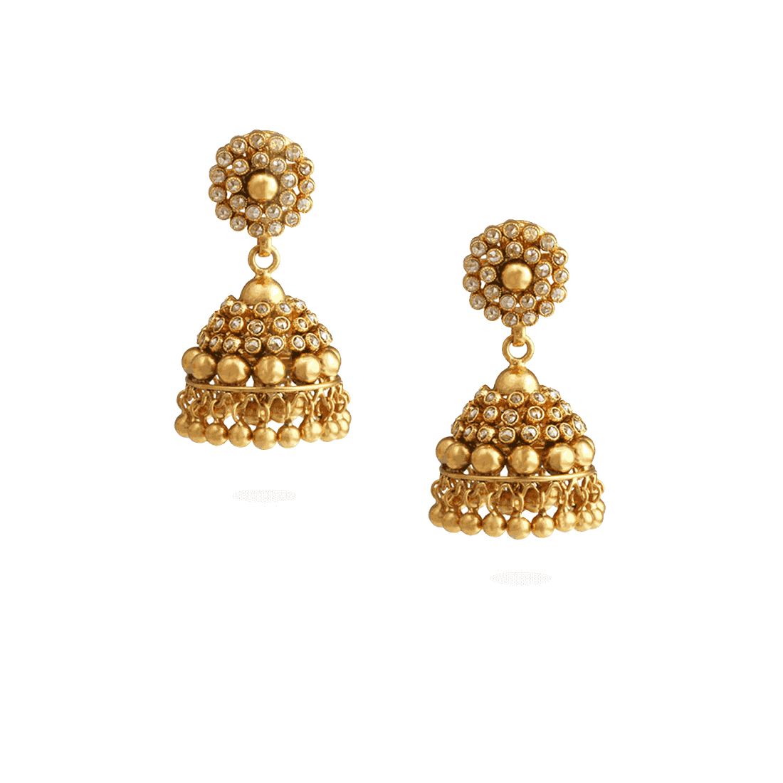 23219 - 22ct Gold  Polki Umbrella Earrings