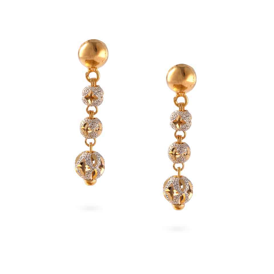 30395 - 22ct Gold Sparkle Earrings