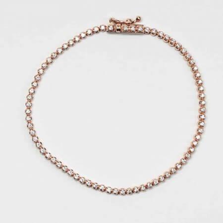 26046 - Rose Gold Diamond Bracelet