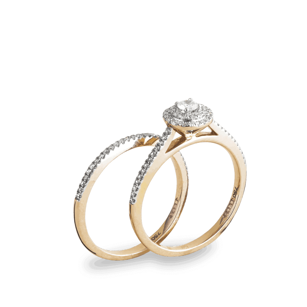 - 18ct Rose Gold Diamond Engagement Ring