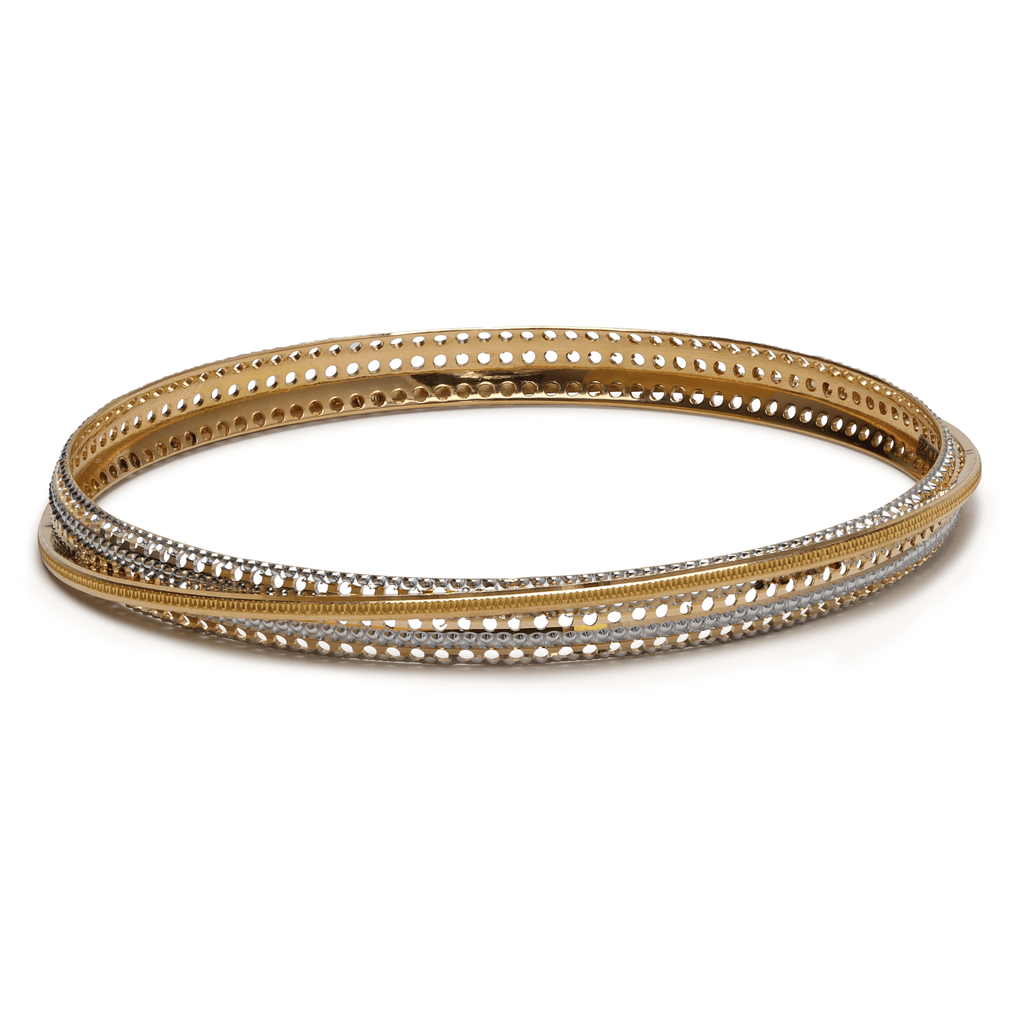 25775 - 22ct Gold Rhodium Plated Bangle