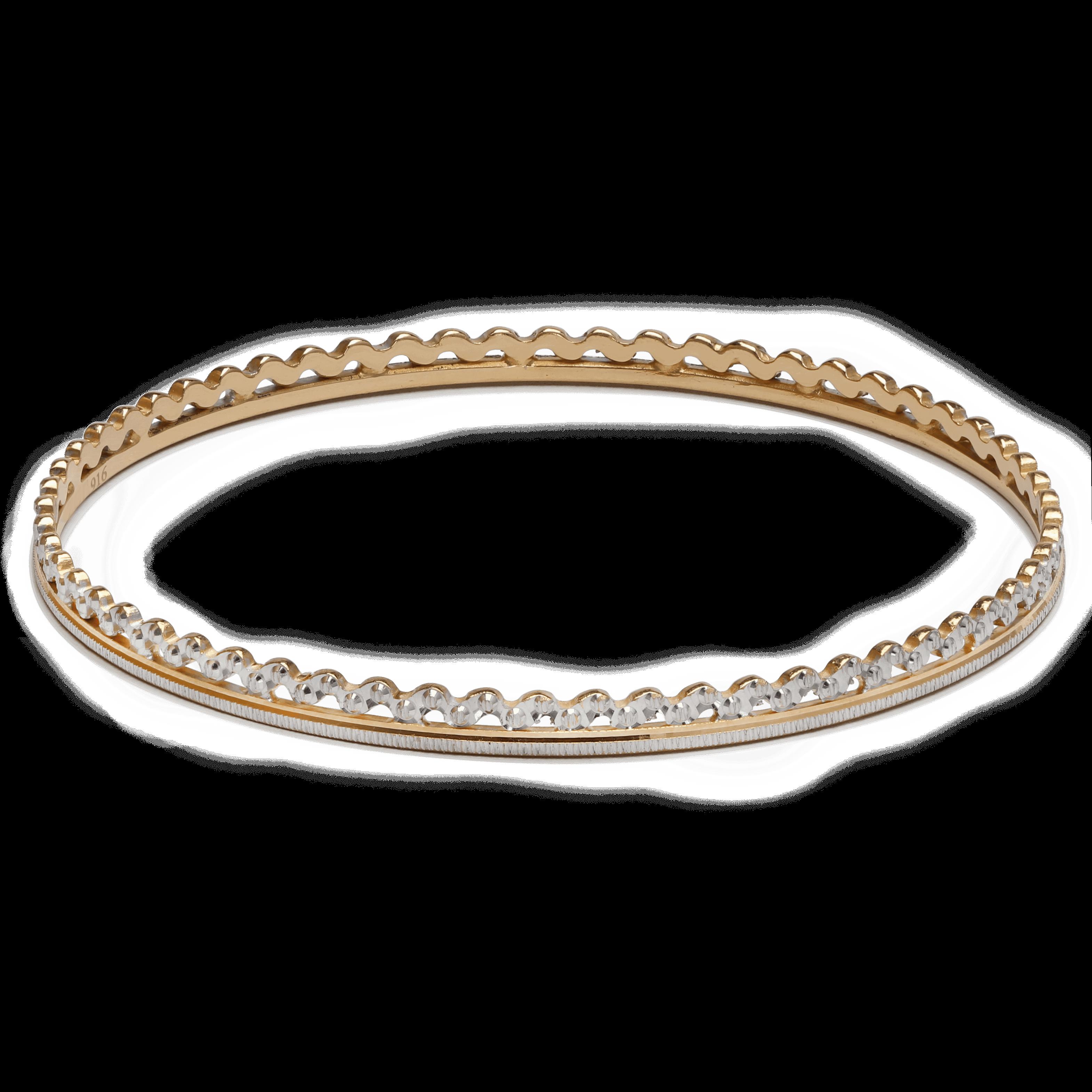 25777 - 22ct Gold Bangle Rhodium Plated