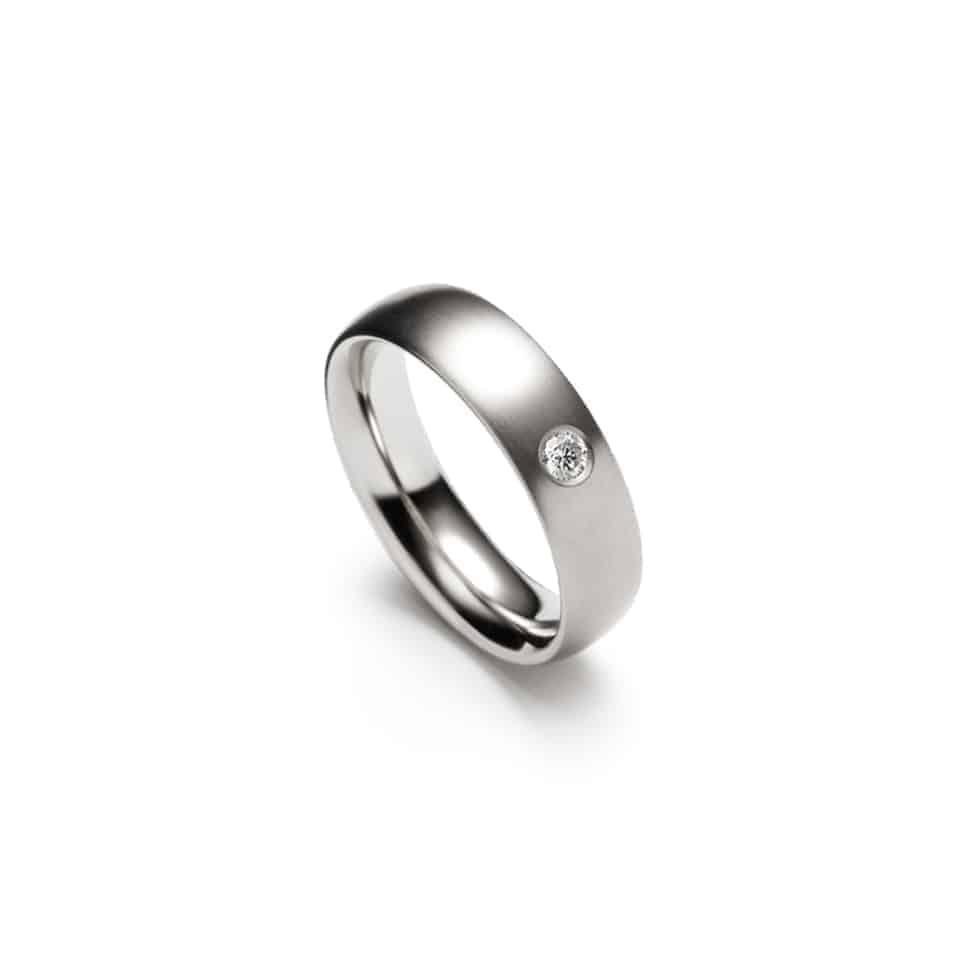 241425-9213 - Single Diamond Christian Bauer Wedding Ring 0241425
