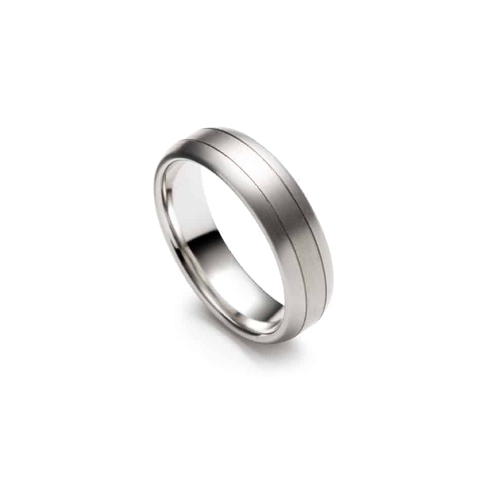274092-9220 - Twin Groove Christian Bauer Wedding Band Ring