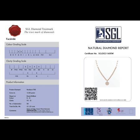 Diamond Certificate SGLDXJ11600W