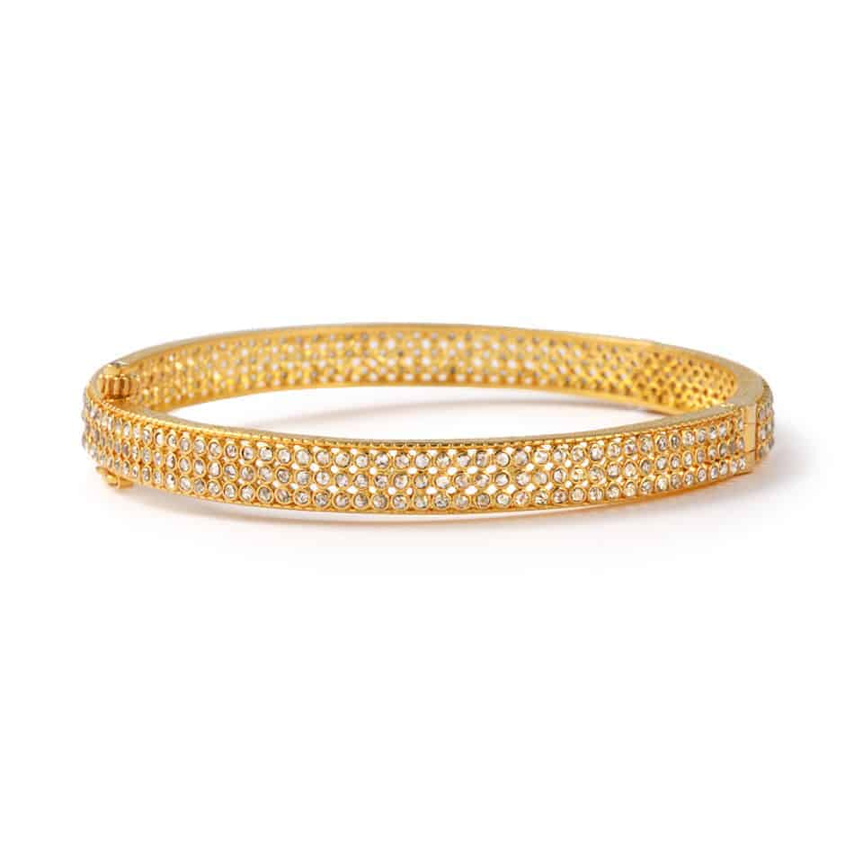 23657 - 22ct Diya Gold Uncut Polki Diamond Kada Bangle