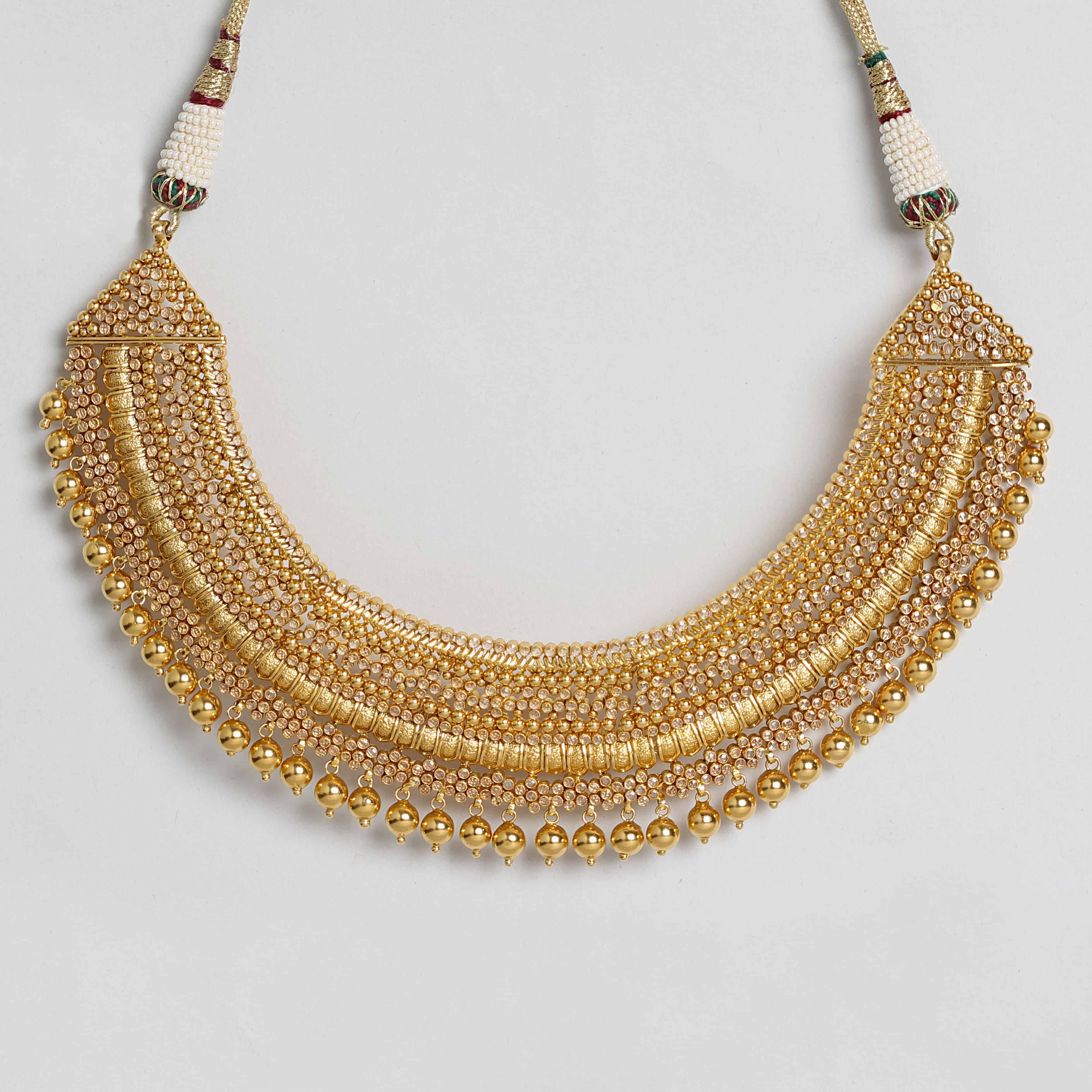 26144 - 22ct Polki Necklace