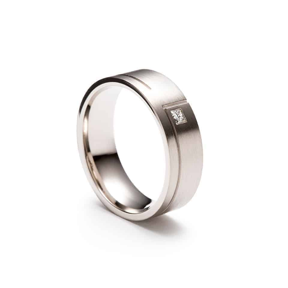 D094 - Brown & Newirth Wedding Ring with Satin Finish