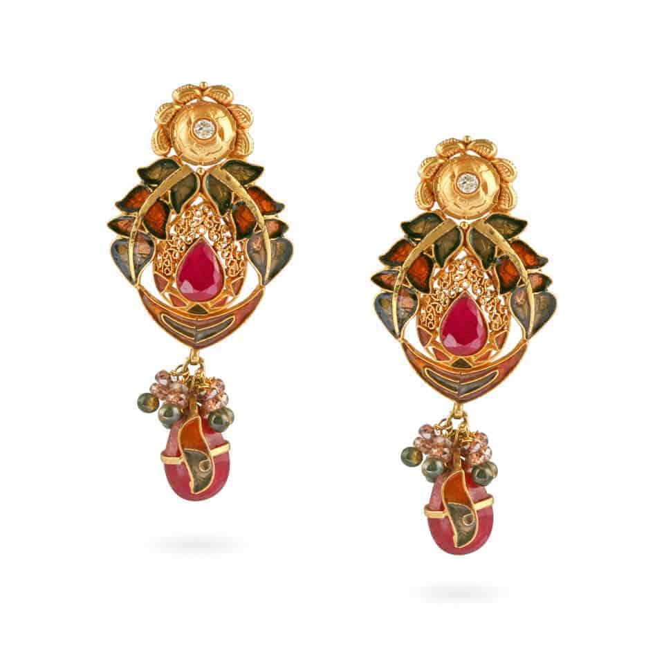 12017 - 22ct Gold Earrings