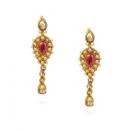 20426 - 22ct Gold Polki Earrings