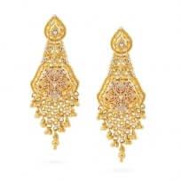 21014 - Jali 22ct Gold Filigree Earring
