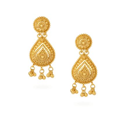 21287 - Jali 22ct Gold Filigree Earrings