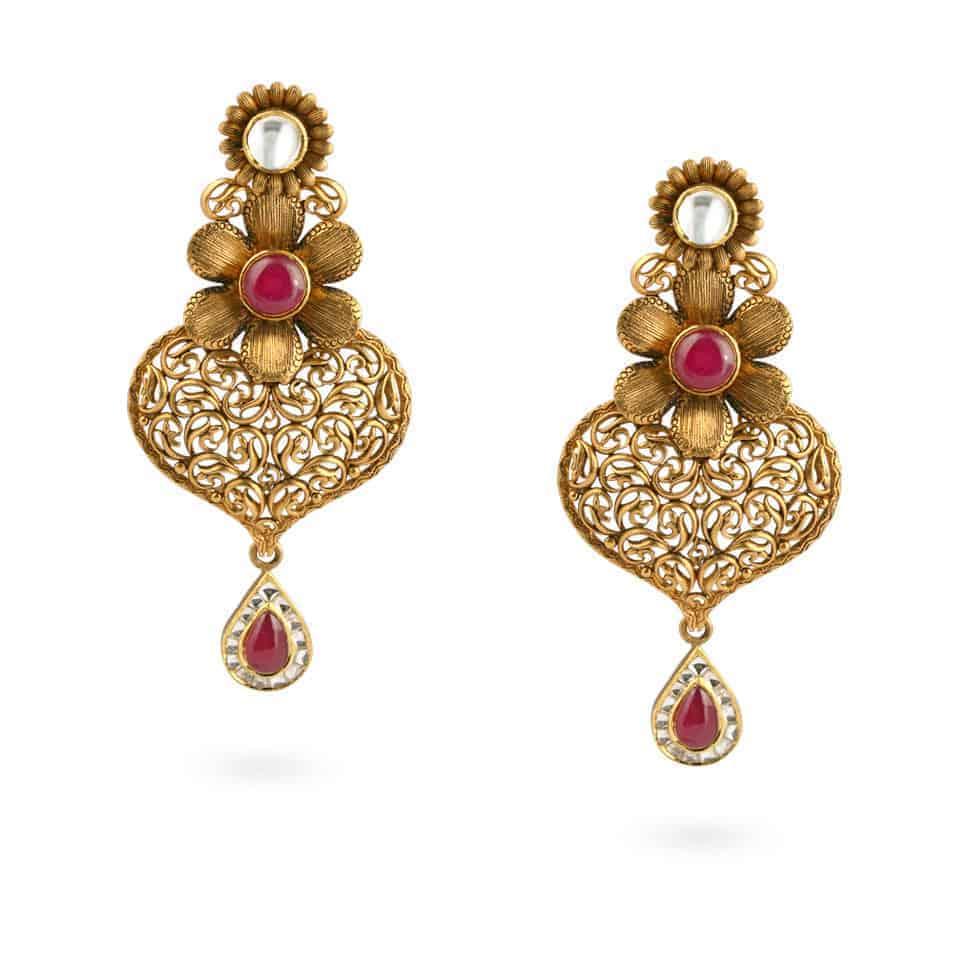 21904 - 22ct Gold Earrings