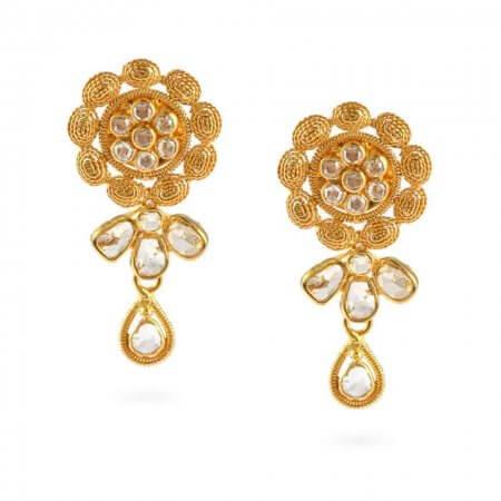 23663 - Diya 22ct Gold Uncut Polki Earrings