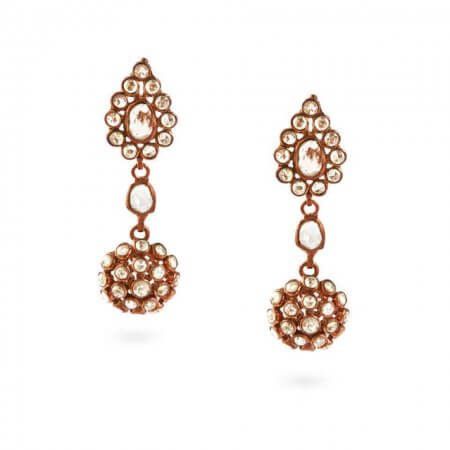 23760 - Diya 18ct Uncut Polki Diamond Earrings