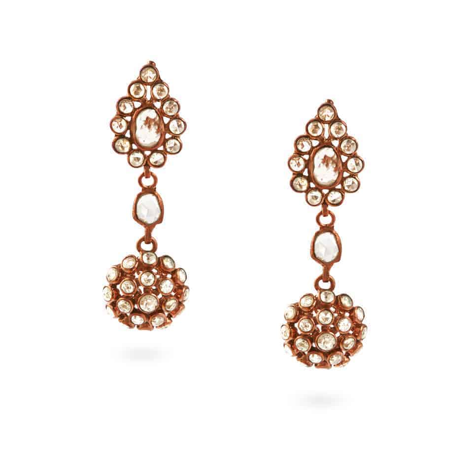 23760 - Diya 18ct Uncut Polki Diamond Earrings
