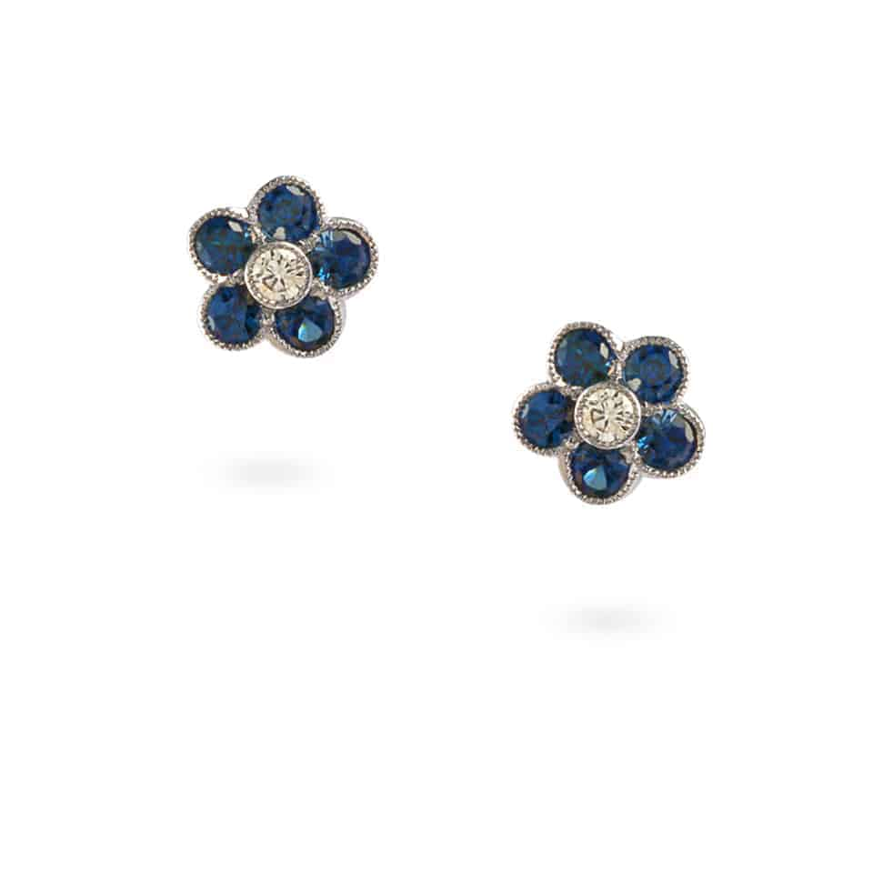 23779 - 18ct White Gold Sapphire Studs
