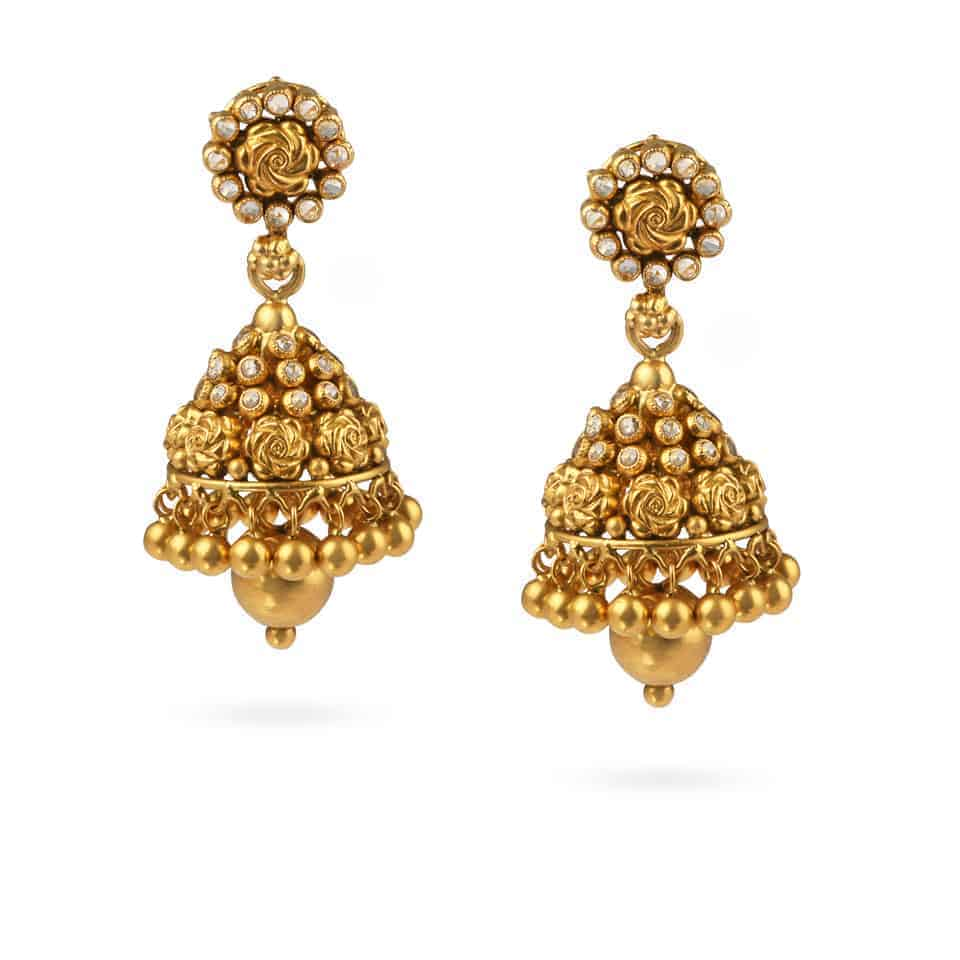 27087 - 22ct Polki Stone Earrings