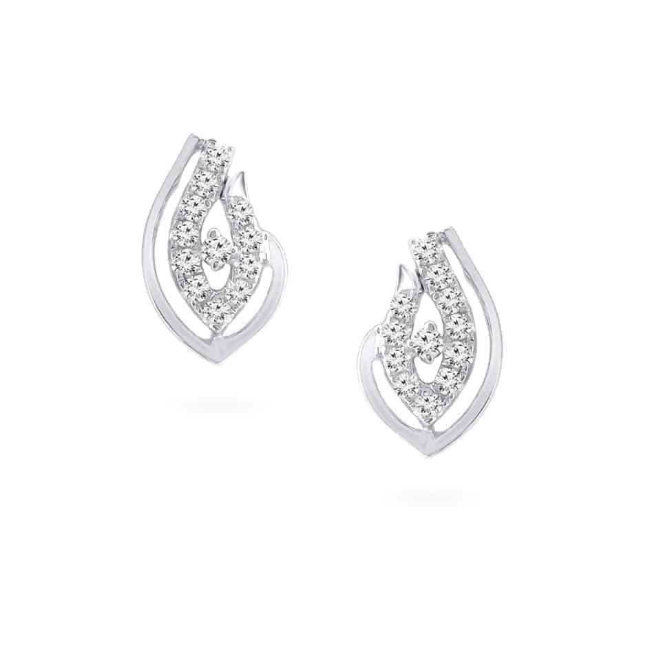 24274 - 18ct White Gold Diamond Earrings