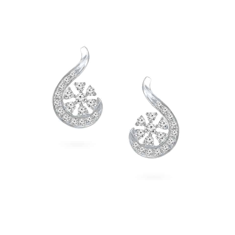24276 - 18ct White Gold Diamond Earrings