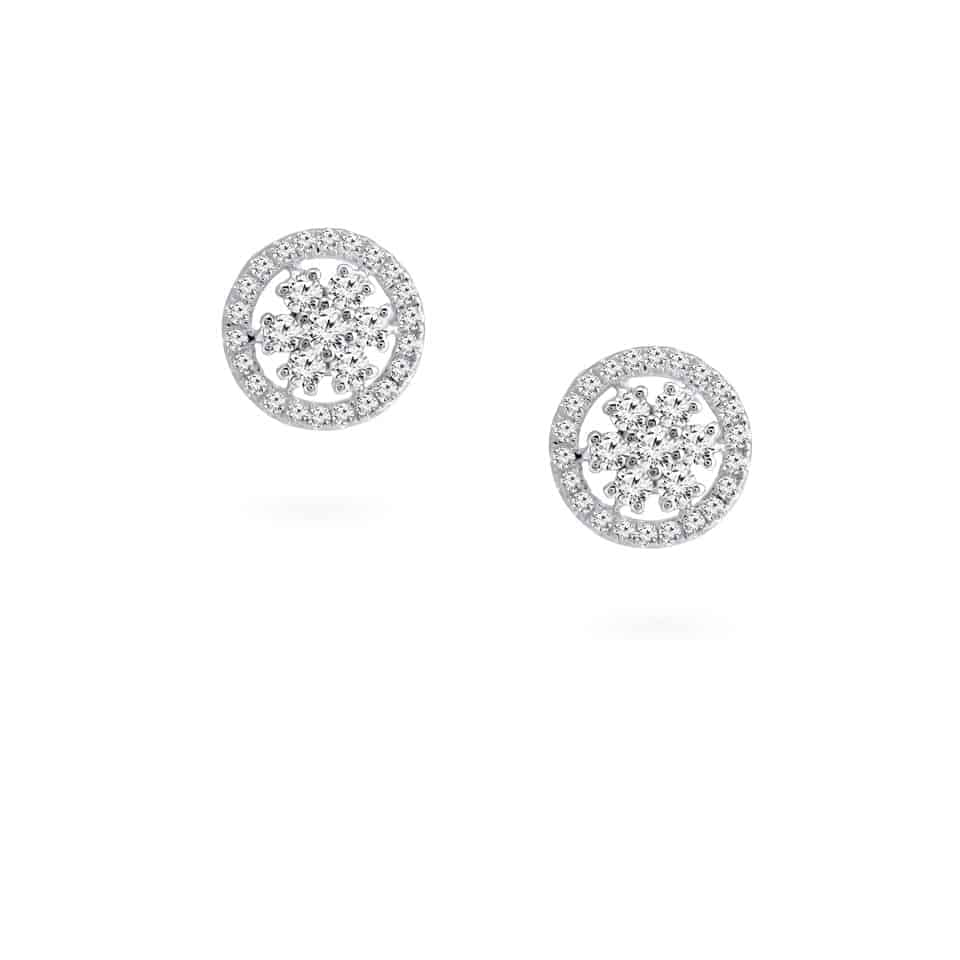24278 - 18ct White Gold Earrings