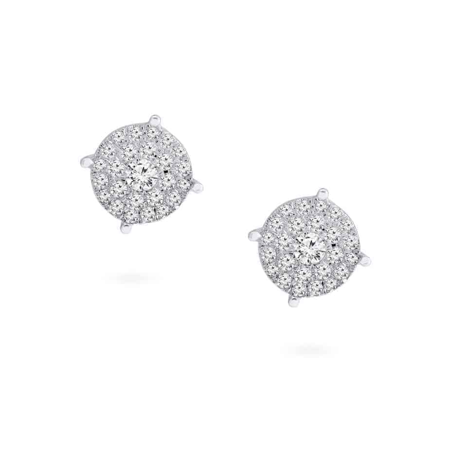 24429 - 18ct White Gold Earrings