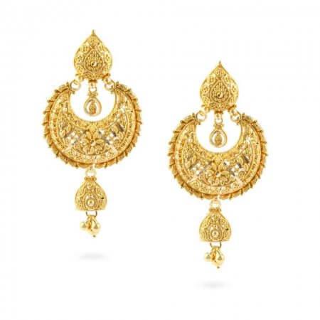 24980 - Jali 22ct Gold Filigree Earrings