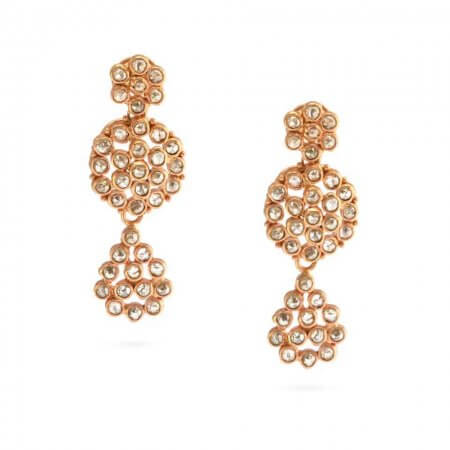 23686 - Diya 22ct Uncut Polki Diamond Earrings