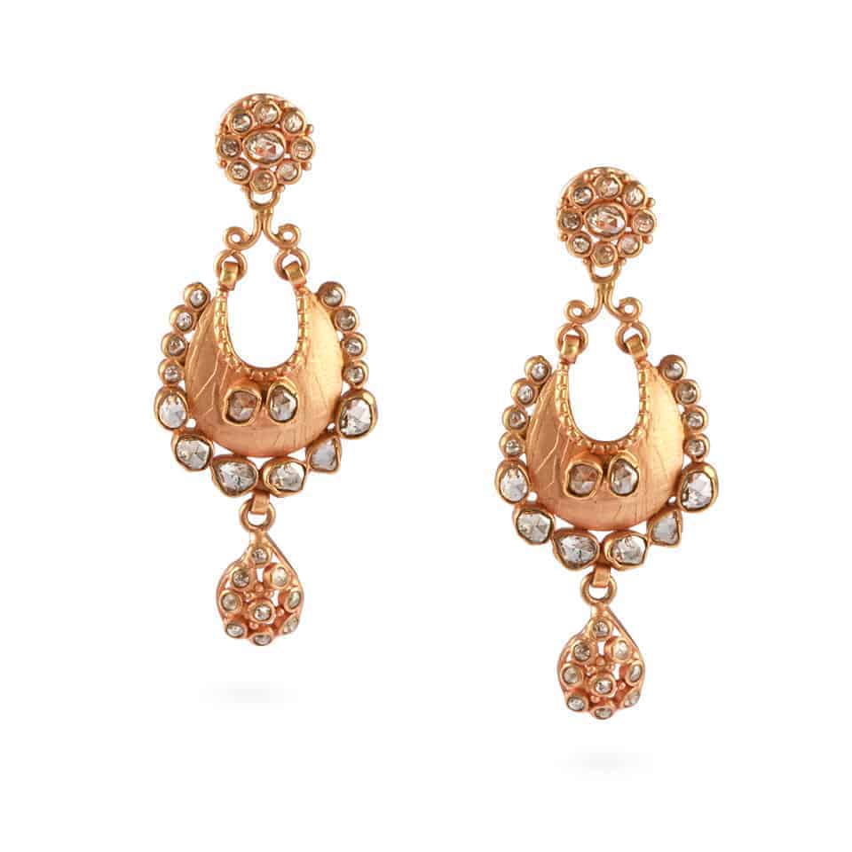 23692 - Diya 22ct Uncut Polki Diamond Earrings