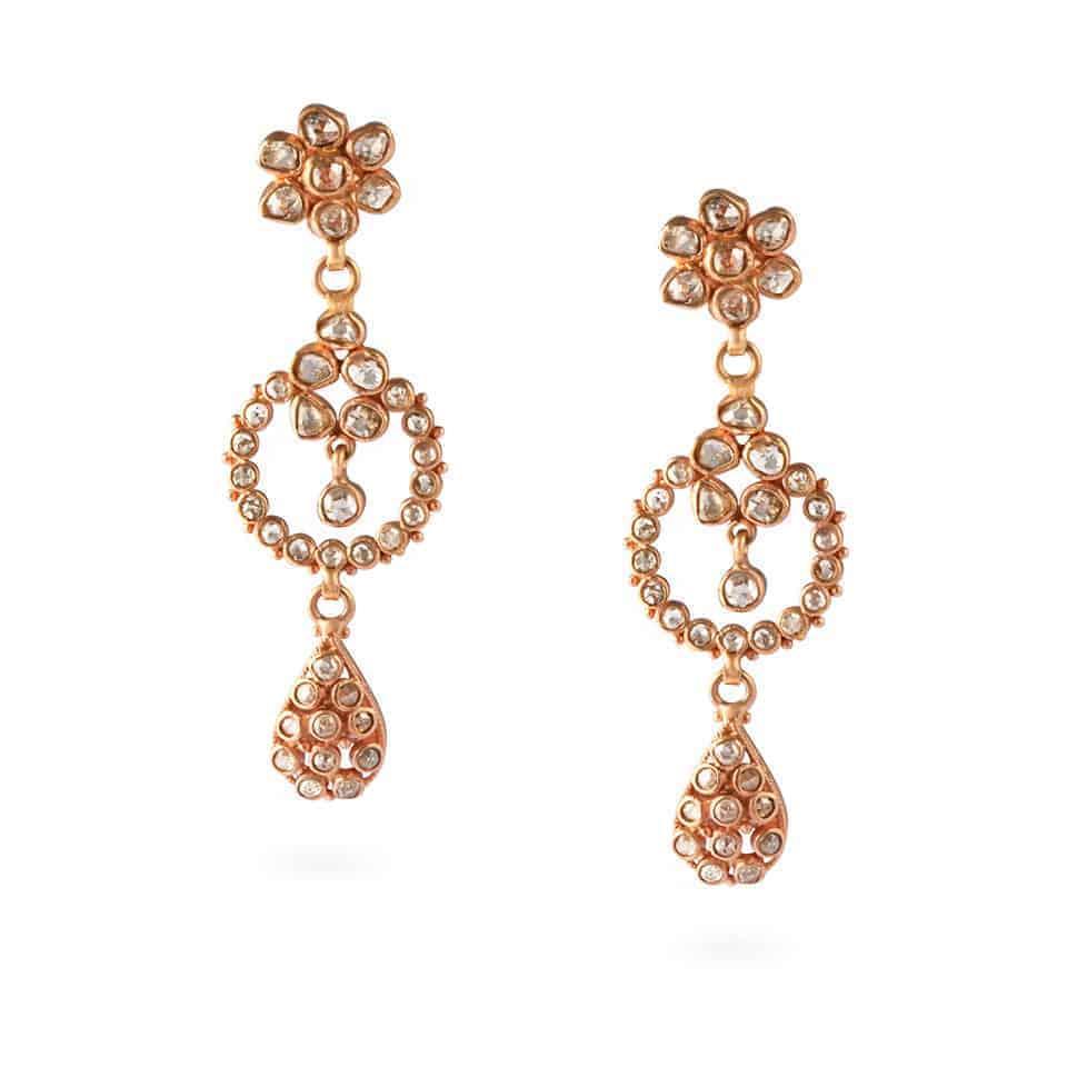 23695 - Diya 22ct Uncut Polki Diamond Earrings