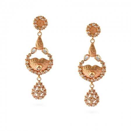 23697 - Diya 22ct Uncut Polki Diamond Earrings