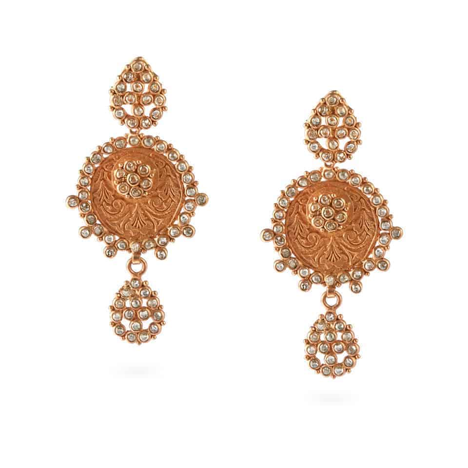 23703 - Diya 22ct Uncut Polki Diamond Earrings