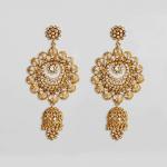 26148 - 22ct Polki & Kundan Earrings