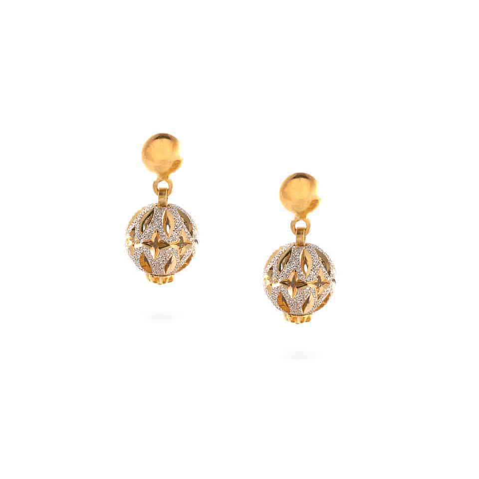 30403 - 22ct Gold Sparkle Earrings