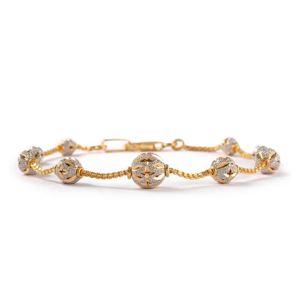 30400 - 22ct Gold Sparkle Bracelet