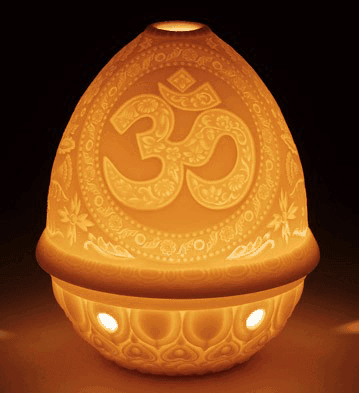 1017335 - LITHOPHANE VOTIVE LIGHT - OM