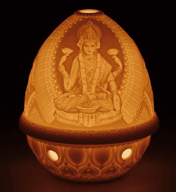 1017339 - LITHOPHANE VOTIVE LIGHT -GODDESS LAKSHMI
