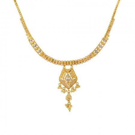 22761 - 22 carat Gold Filigree Necklace