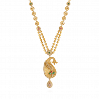 22793 - 22ct Gold Peacock Jali Necklace
